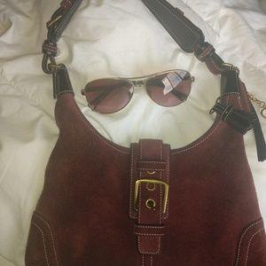 Authentic Coach Handbag w/ Matching Sunglasses